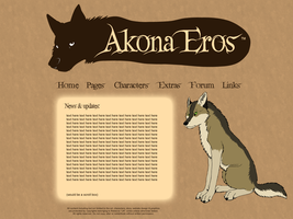 Akona Eros website design by UKthewhitewolf