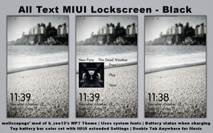 All Text MIUI Lockscreen Black by melissapugs