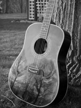 Guitar in the Forest by Layla121
