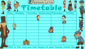 Professor Layton Timetable 2 by kenabe