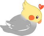 Free Grey Cockatiel Page Doll by Squishy-Feathers