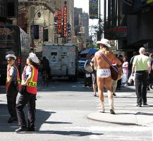 Traffic and a Naked Cowboy by KeenPhotography