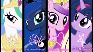 The Four Alicorns by Princess--Cadance