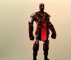 Footsoldier watercolor by legumebean