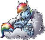 Rainbow Dash Napping by Arceus55