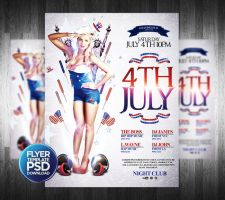 4Th July Party Poster Template by Grandelelo