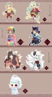 Adoptables-Japanese Folklore (AUCTION CLOSED) by Pixie-tenshi