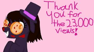 Thanks for the 23,000 views! by VoltaliatheMajestic