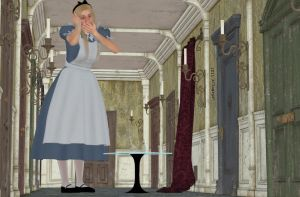 Alice in the hall of doors by Allogagan
