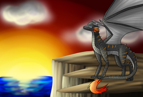 Sunset Dragon by SilverLucario12