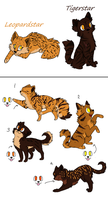 Tigerstar x Leopardstar Litter (Closed) by Sukida-Adopts