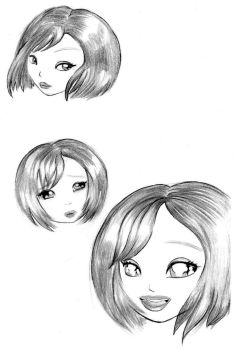 Manga Heads by calebjoe