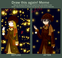 draw it again meme by ChibiDairacool