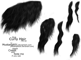 Curly Manes + tails: Black by MustangStock