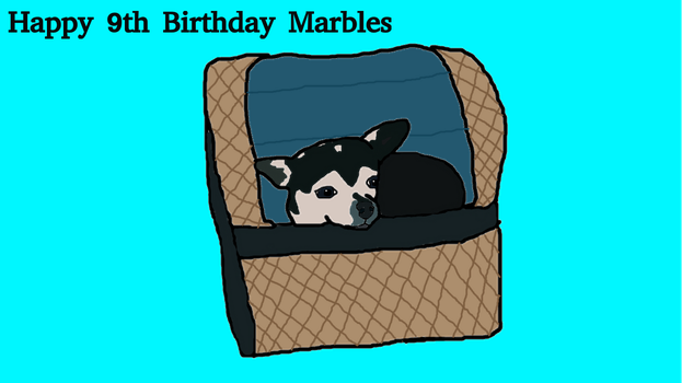 Happy 9th Birthday Marbles by Laceyamy