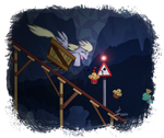Derpy in Canterlot's Caves by HardLugia