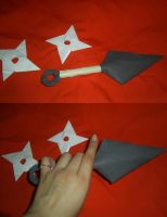 Cosplay Craft: Naruto Kunai and Shuriken by KunoichiAyu