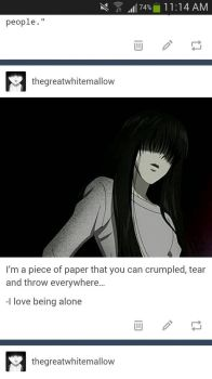 Just a piece of paper by TheGreatWhiteMallow