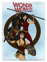Wonder Woman The Animated Series Poster by Femmes-Fatales