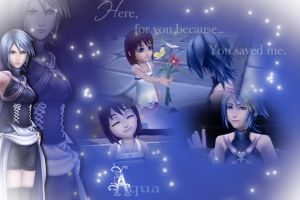 Kingdom Hearts aqua BG by FlyingSoulx