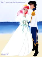 Little mermaid wedding by Sweet-Amy-Leah