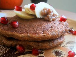 Apple Pumpkin Oat Pancakes by sighlent