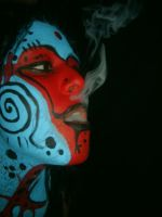 Face Paint by whiteironroses