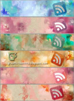 Grunge RSS Banners by GraphicIdentity
