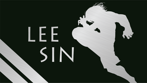 Lee Sin Silhouette - Green - 1920x1080 by urban287