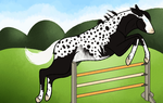 1133 Shadow in the City Show Jumping by Flamestorm11