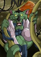 A Snakekat in his swampy lair by ignigeno