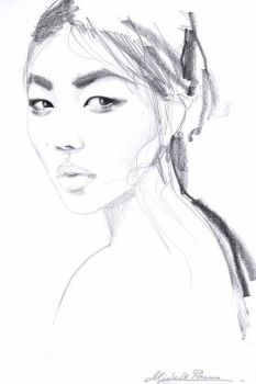 Liu Wen sketch by dreamsCrEaToR