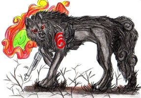 Request: Dark Okami by Wolf-of-Moonlight