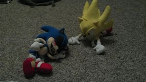 Super Sonic has defeated Sonic.exe! by srlOctober23