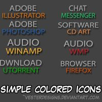 Colored Simple Icons by vesterdesigns