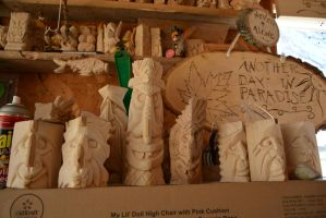 Some of My Carvings by howlinmadd123