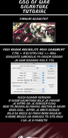 God of war signature tutorial by ExExic
