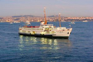 Boat On The Bosphorus by deviantmike423