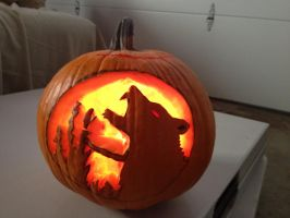 Wolf Pumpkin by Anomaly55