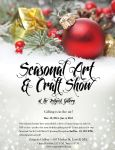 Flyer: Zeitgeist Gallery Seasonal Art + Craft Show by katdesignstudio