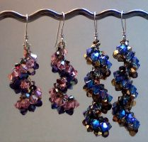 Vertigo Crystal Earrings by beadg1rl