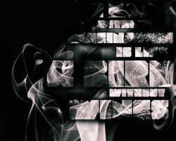 Smoke Typography by richworks