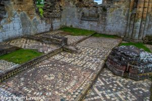 Bylands Abbey - South Trancept Mosaic Floor by Princess-Amy
