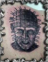 Pin Head - tattoo by mojotatboy