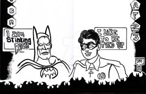 awkward batman Robin by ibentmywookiee