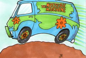 Scooby Doo's Mystery Machine by johnnyism