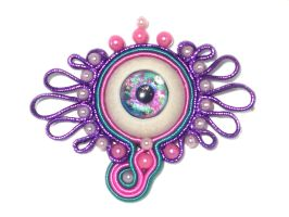 Lovely Eye Soutache by glo0bule