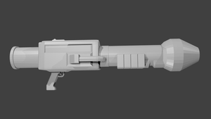 Doom Rocket Launcher 3D model more more WIP by Treeko