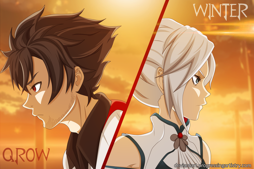 RWBY - Qrow and Winter by ProgressingArtistry