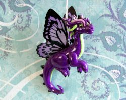 Purple Butterfly Dragon by DragonsAndBeasties